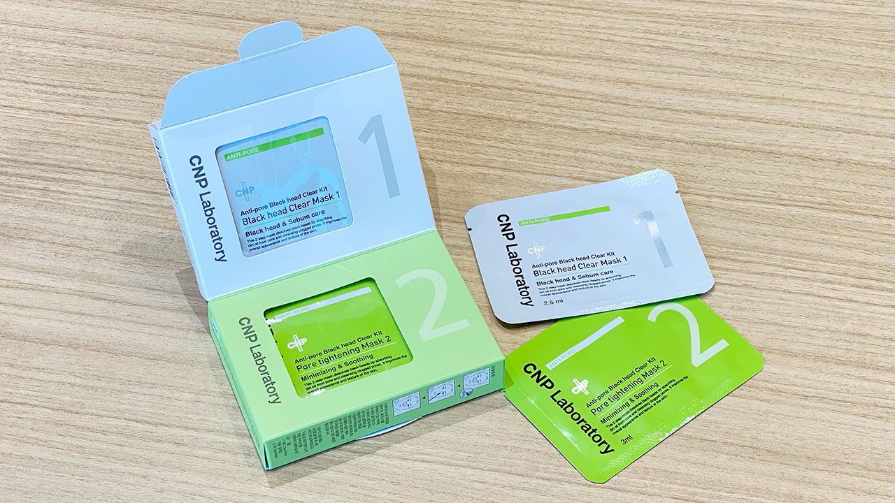 CNP ANTI-PORE BLACK HEAD CLEAR KIT ブラックヘッド クリアマスク 2.5ml X 10ea, 3ml X 10ea ¥3,410
